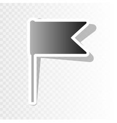 flag sign new year blackish vector image