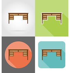 Furniture flat icons 13 vector