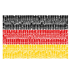 Germany flag mosaic of exclamation sign icons vector