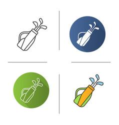 golf bag icon vector image