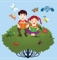 happy children day background universal vector image