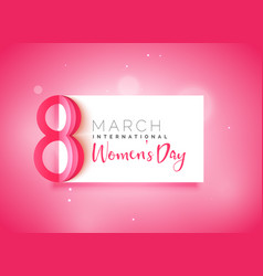 happy womens day beautiful pink background vector image