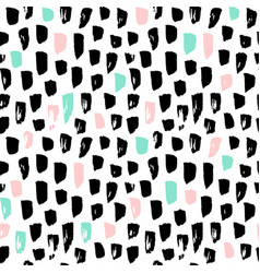 Hipster paint blots seamless pattern vector