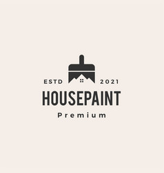 house paint brush service hipster vintage logo vector image