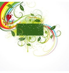 illustrated floral design vector image