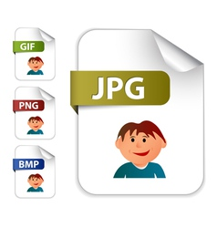 image file extensions vector image