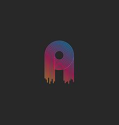 initial letter a logo monogram linear modern vector image
