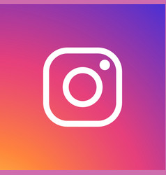 Instagram icon white vector