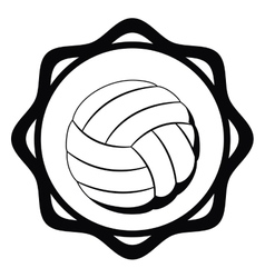 Isolated ball of volleyball design vector image
