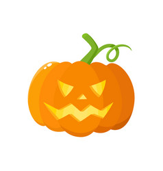 jack o lantern pumpkin with carved scary face vector image
