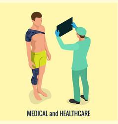 knee pain or sprains knee joint shoulder vector image
