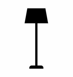 lampshade dark silhouette vector image