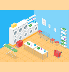laundry room concept interior with furniture vector image