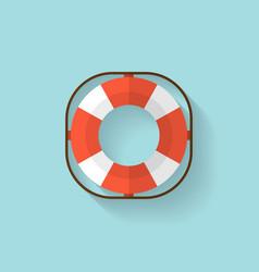 Lifebuoy flat web icon vector image
