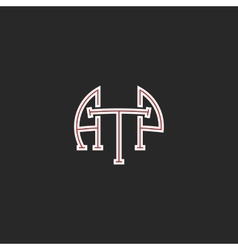 Logo ATP letters hipster monogram combination vector