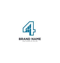 Logo design number 4 financial vector