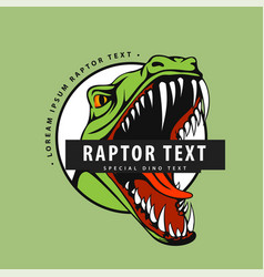 Logo with a raptor on a green background vector