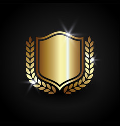 luxury shield shield guard protection and safety vector image