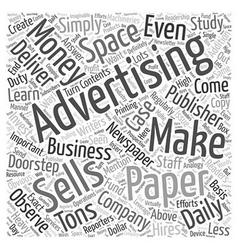 Making Money from Selling Advertising Space Word vector