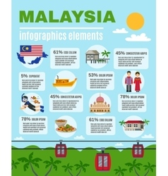 Malasyan Culture Infographic Elements Poster vector