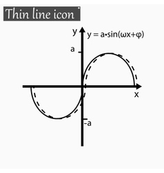 Mathematical function Style Black thin line vector