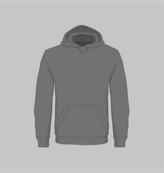 mens black hooded sweatshirt vector image