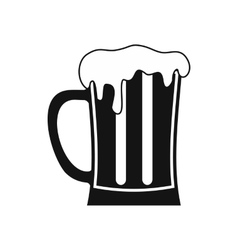 Mug of beer icon simple style vector