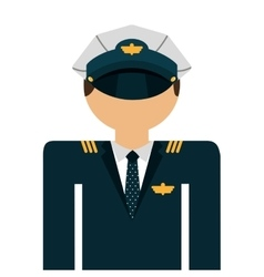 pilot avatar isolated icon design vector image