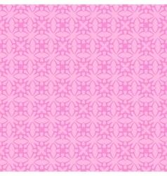 Pink ornamental seamless line pattern vector