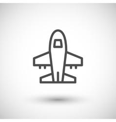 Plane line icon vector image