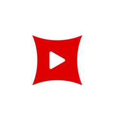 play icon button vector image