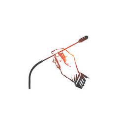 press conference broadcast concept sketch hand vector image