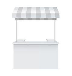 Promotion counter retail trade stand vector