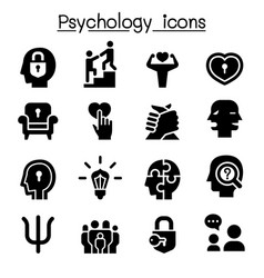 psychology icon set vector image