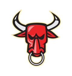 Raging Angry Bull Head vector
