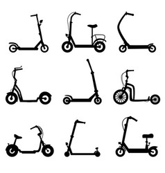scooter on a white isolated vector image