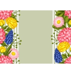 Seamless pattern with garden flowers Decorative vector