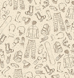 Seamless sketch pattern vector
