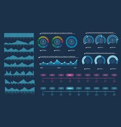 set of intelligent technology hud interface vector image
