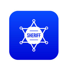sheriff badge icon digital blue vector image