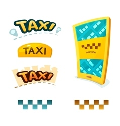 Smartphone with app Taxi vector image