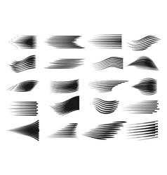 Speed line set vector