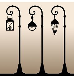 Street lights vector image