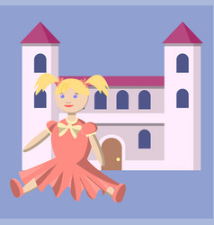toys for the little princess a doll in a vector image