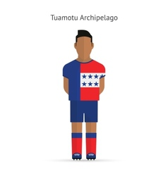 Tuamotu Archipelago football player Soccer uniform vector