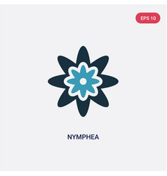 two color nymphea icon from nature concept vector image