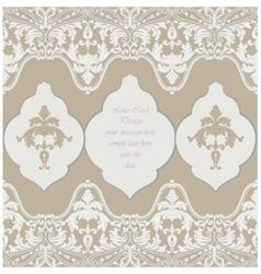 Vintage delicate lace baroque card vector