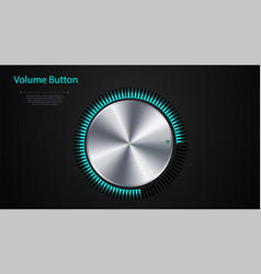 volume button realistic metal circle button vector image