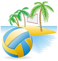 beach volley island vector image