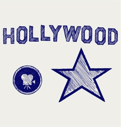Hollywood vector image vector image